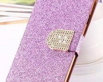 Lavender Galaxy 5 Rhinestone Bling Phone Case