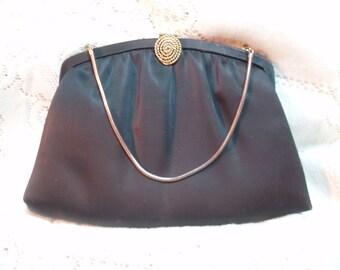 Black satiny evening bag***SALE
