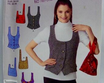 SIMPLICITY 2533, UNCUT, Misses' Lined Vest and Wristlet. Sizes 8-18.