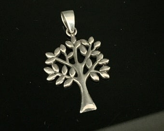 Tree of Life Silver Pendant - 925 Sterling Silver - Oxidized Finish - Hand Cast -- Silver Pendants