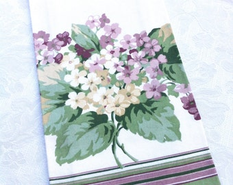 "NEW Purple Plum Lavender Green Hydrangea Cotton Dish Tea Towel (20x 28"")"