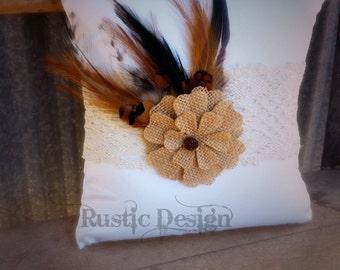 Feather Ring Bearer Pillow