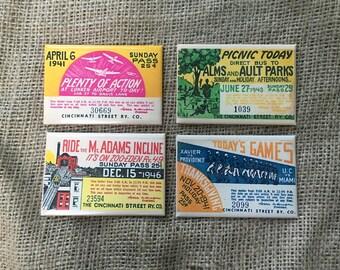 Cincinnati Streetcar Pass Magnets