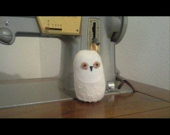 Snowy Owl Sewing Pincushion