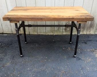 Good The Butchers Choice Reclaimed Wood Bar Table Butcher Block FarmhouseTable Patio  Furniture