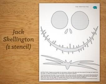 Printed pig loved by 96 etsy shoppers handmade hunt for Pumpkin carving patterns printable jack skellington