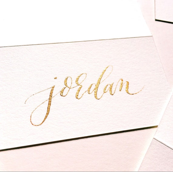 Calligraphy place cards name made to order