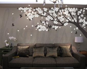 Cherry blossom wall decals tree decals baby nursery kids flower floral nature wall stickers- Cherry Blossom Tree