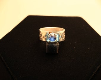 Sterling Silver Sodalite ring size 10.2