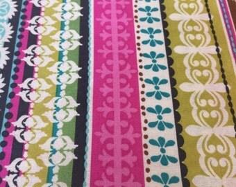 ON SALE Roco Beat Stripe Morocan Fabric 22x44 Remnant
