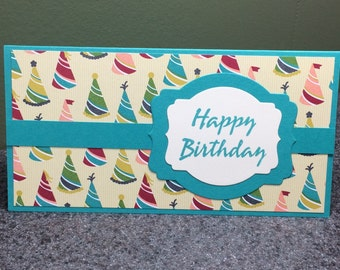Stampin' Up' Handmade Birthday Money Holder Check Holder Gift Card Holder