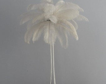 100pcs White ostrich feather plumes,wedding centerpiece ,wedding table  decoration,table eiffel tower centerpiece