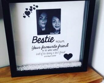 Bestie frame, best friend gift, favoutite friend, bestie gift, forever friends, bestie, birthday gift, special friend, custom frame gift