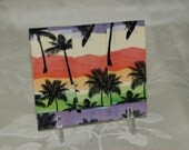 SALE Handmade Accordion Duct Tape Wallet-Sunset Strip Palms