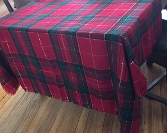 Tartan Plaid Tablecloth Christmas