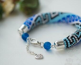 """Bead Crochet Bracelet """"Greek"""""""