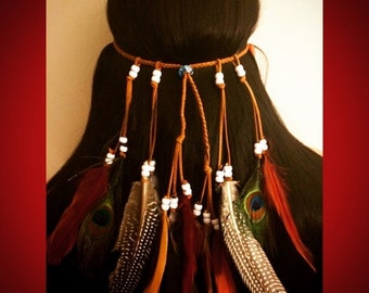 Full feather headband