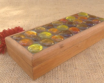 Mosaic Box Mid Century Modern with Glass