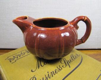 GMB - Gladding McBean - Small Brown Pottery Creamer - Made in U.S.A.