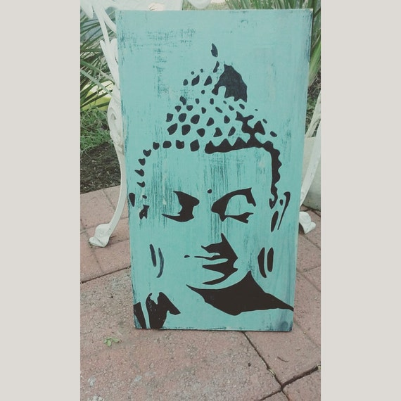 Buddha yoga meditation home decor living room blue for Yoga decorations home