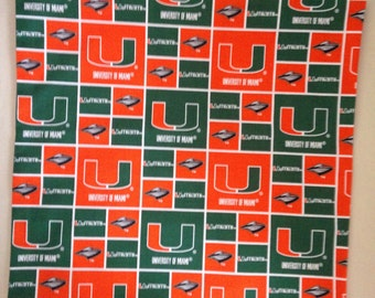"University of Miami ""Hurricanes"" 16""X16"" Pillow Cover/Case"