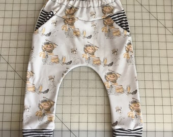 Organic cotton knit where the wild things are pocket harems