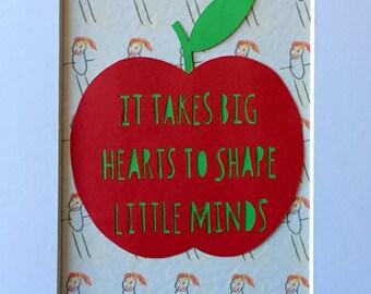 Teachers gift papercut