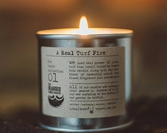 Natural Candle A Real Turf Fire