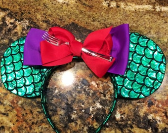 Ariel Little Mermaid Disney Mickey & Minnie Dinglehopper Ears