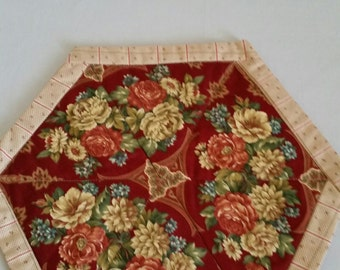 Quilted Set of 4 Flower Placemats