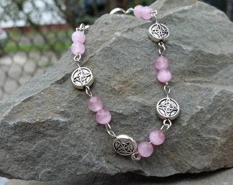 pink cats eye bracelet