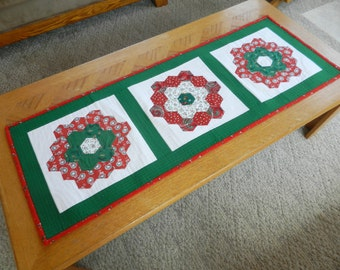 Christmas table runner, Holiday table runner, Christmas Dresser Scarf, Christmas table topper, Christmas decoration Item 297