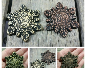 Essential-Oil Clay Diffusing Ornament / Snowflake Ornament / aromatherapy ornament / Holiday Ornament / Christmas Tree Ornament /Snowflake