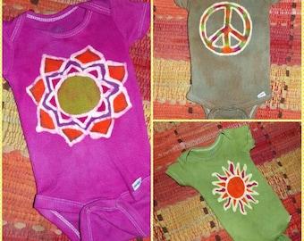 Batik baby onesies