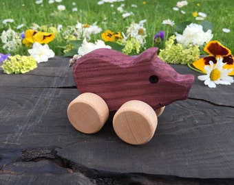 Small Wooden Toy Pig,Baby toys,Christmas gifts,Birthday gifts,Christening gifts,Personalised gifts,Baby Shower gifts,Waldorf toy