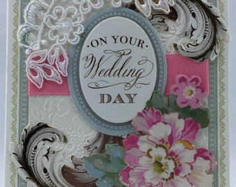 Handmade Greeting Card Wedding Bridal Style # 402