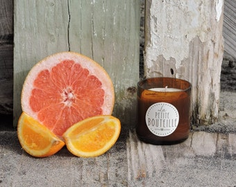 Citron Amber Recycled Beer Bottle All Natural Soy Candle - 4oz