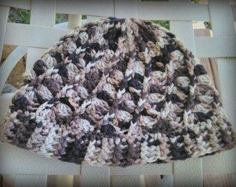 Spiral Beanie - Camo Swirl Winter Hat - Colors of your Choice!