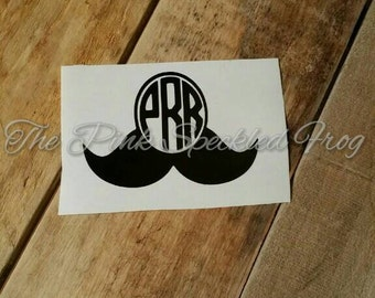 Mustache decal, boy decals, stache decals