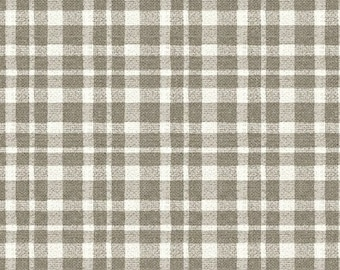 Jardin de Provence Beige Ivory Plaid by Daphne Brissonnet - Windham 40792-3 Cotton Quilting Fabric by the Yard - listing is for 1 Yard - DP