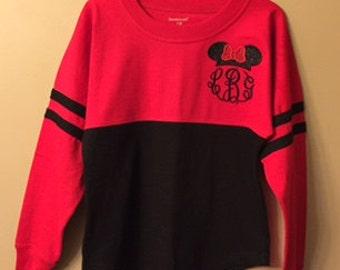 Minnie Ears Monogrammed Pom Pom Shirt