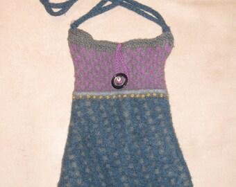 Vintage Boiled Wool Purse