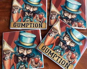 Gumption Hard Cider Coasters