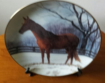 Winter Pasture Collectors Plate