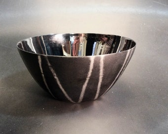 Vintage Michael Aram Black Etched Bowl