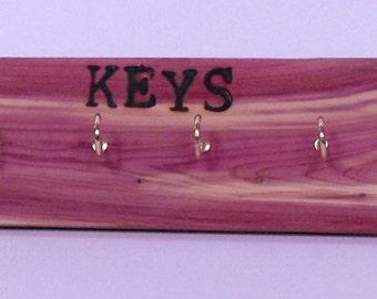 Cedar Key Organizer/Key rack/Key Holder/Great Gift Item/Organizer Cedar