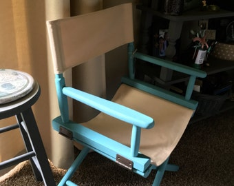 Directors Chair, upcycled, office decor, bar, furniture, bedroom, computer, gifts, Christmas, Holidays, reading, relaxing, dining, entertain
