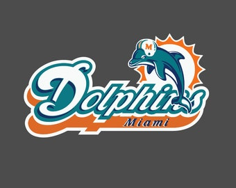Full Color Miami Dolphins Vintage - Die Cut Decal