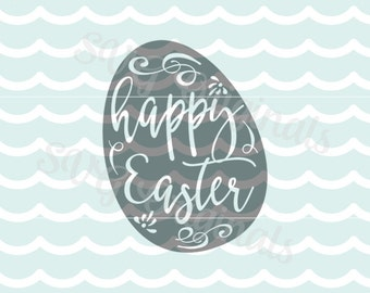 Easter Egg SVG Happy Easter SVG Vector File. So pretty for so many uses. Cricut Explore and more. Easter Egg Happy Easter SVG