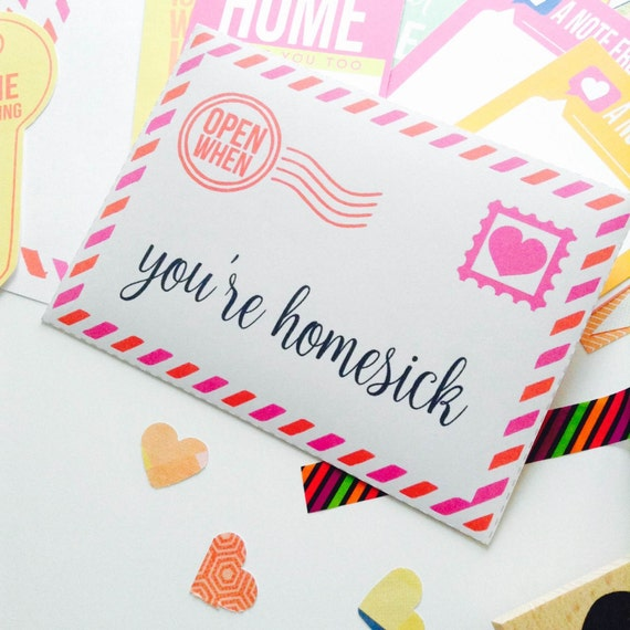 Open When Letters Printable Envelopes